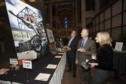 Guests check out a silent auction item.