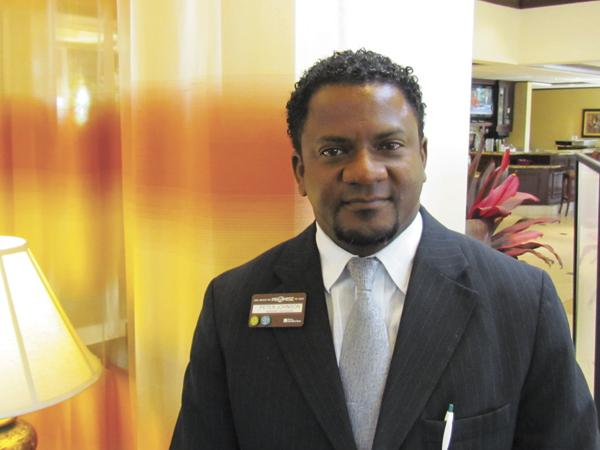 People Person: Peter Johnson, a native of Jamaica, is general manager of the Hilton Garden Inn Dayton/Beavercreek.