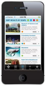 The RiverWalk Project interactive smartphone app has four components: health, environment, arts and entertainment and history.