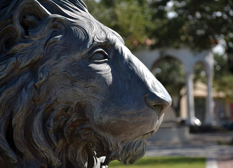 A lion statue at Balis Park in San Marco.