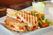 The restaurant also features paninis and salads on its menu.