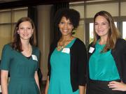 From left: Alex Yates of Avenue Bank, left, Brittany Sims of Tennessee Bar Association, and Mary Lauren Teague of Wyatt, Tarrant & Combs, LLP