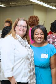 From left: Michelle Perry, owner of Emerald Resource; Angela Crane-Jones, Nashville Business Incubation Center, Interim Executive Director