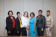 From left: Dr. Ruthie Reynolds, TSU Center for Entrepreneurship and Economic Development; Dinah Norman, owner of A-Z DME; Michelle Perry, owner of Emerald Resource; Angela Crane-Jones, Nashville Business Incubation Center Interim Executive Director; Brenda Odom, owner of U-Kno Catering; and Charlotte Peacock, Senior Vice President/Financial Advisor at Pinnacle Financial Partners