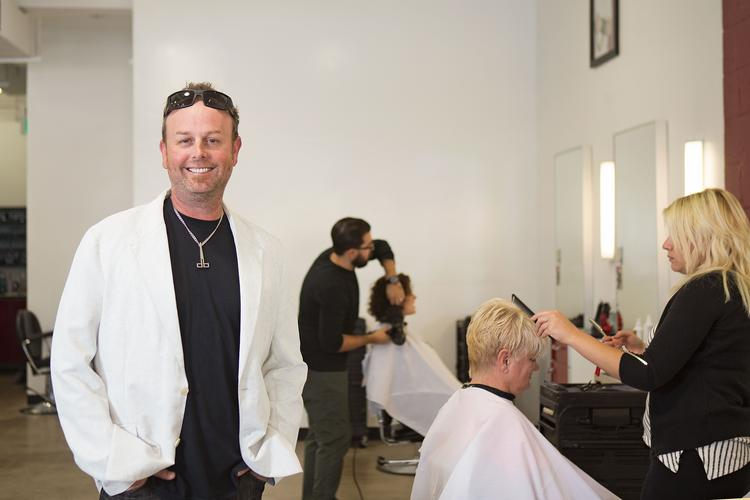 Darrell Barrett, owner of Darrell Barrett Salon, says he lets employees in on important decisions.