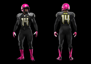 The uniforms are part of the Nike Pro Combat line.