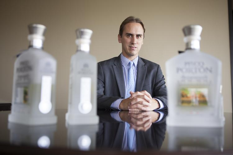 Brent Kallop is president of Pisco Portón, which he operates out of its corporate headquarters in Houston. Pisco is a grape brandy from Peru that Kallop said is well positioned to entice market share from vodka and tequila.
