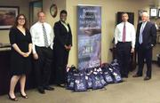 "CBJ Seen: HF Financial has launched an initiative through its Hands & Feet Community Service Program to address homelessness. The firm recently held a ""Pack the Pack"" campaign and donated 32 backpacks with supplies to area schools to support homeless students. From left: Audrey Averill, Jason Goldy, Sabrina Hudson, David Cove and Tim Flanagan with some of the school-supply packs they prepared.Want to see your events included? Send them in an email with the subject line ""CBJ SEEN"" to aangel@bizjournals.com."