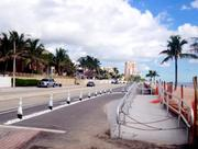 Restored beach along A1A in Fort Lauderdale, including a wheelchair ramp.