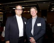 John Fisher, executive vice president of sales and Stephen Johnson, chief administrative officer Paramount Equity, pose at the Business Journal's Best Places to Work awards Tuesday. Paramount came in third place in the large companies category.