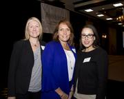 Jennifer Mann, Wendy O'Connor and Melissa Drake of Hyatt Regency Sacramento pose at the Business Journal's Best Places to Work awards Tuesday. The Hyatt won in the large companies category.