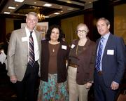 Christopher Holben, Norma Rivera, Estelle Saltzman and Paul McClure with Runyon Saltzman & Einhorn, all pose at the Business Journal's Best Places to Work awards Tuesday. RS&E won third place in the medium companies category.