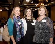 Shannon Kaslar, Randi Fine and Renee Hinson of Liberty Home Equity Solutions pose at the Business Journal's Best Places to Work awards Tuesday.