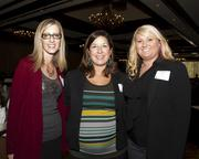 Holly Bowers of Kitchell CEM poses with Shantel Poole of Robert Half International and Kim Kasper of Accountemps, a Robert Half company, all pose at the Business Journal's Best Places to Work awards Tuesday.