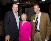 Rick Heron of  Western Health Advantage poses with Jane Einhorn and Scott Rose of Runyon Saltzman & Einhorn at the Business Journal's Best Places to Work awards Tuesday.