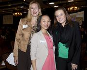 Laura Hansen of Gold Vision poses with Theresa Saechao of the Sacramento Business Journal and Emile Cameron of 3fold Communications.