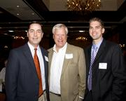 Dennis Raymond, Tim Taylor and Nicholas Lubarsky, all of F&M Bank, pose at the Business Journal's Best Places to Work awards Tuesday.