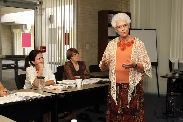 Mary Jean Etten, adjunct instructor at the University of South Florida and affiliated with Suncoast Hospice, teaches a class on aging at USF.