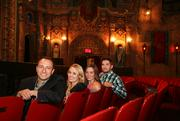 Sparxoo's ad agency team at the Tampa Theatre. David Capece, CEO, Andienne Morgan, Grace Northern, and Ryan Krail.