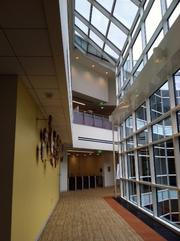 Fidelity employees and customers can enjoy local art and courtyard views from interior walkways.