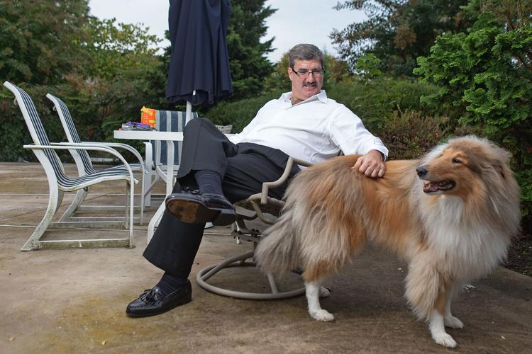 Raskin Global owner Leonard P. Raskin is a proponent — and user — of flex time. Raskin often performs work at his Phoenix home where he can play with his dog, Larry.