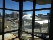 The view from a northeast Cadence apartment living room.