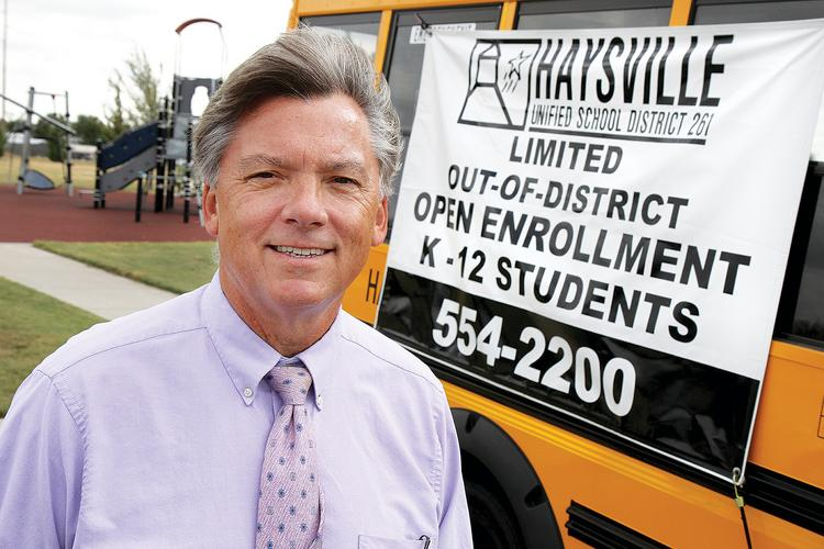 Haysville Superintendent John Burke has used aggressive marketing to increase his district's enrollment.