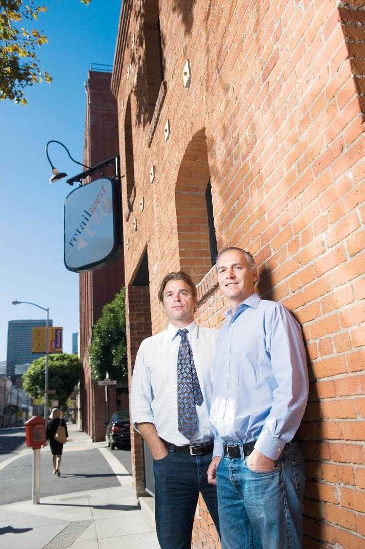 """""""Retail West is constantly evolving the business,"""" says Kashian, right, with Holmes."""
