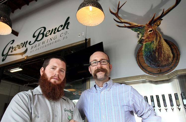 Steven Duffy and Nathan Stonecipher, co-owners of Green Bench Brewing Co. in St. Petersburg.