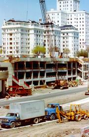 • Jury selection began Oct. 15 on the lawsuit over the O'Donnell wall panel collapse in June 2010.  •Seventy potential jurors were brought in for attorneys to whittle down.  • Trial dates are scheduled into mid-November.  Photo shows O'Donnell Park's construction in the early 1990s.