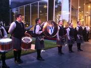 As a tribute to the family's Scottish roots, the company provided a traditional band to play at the event.