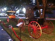 The Morris family showcased its authentic carriage collection at the Stewart Title 120-year celebration on Oct. 16. Stewart Morris Jr. founded the Houston Area Carriage Association and currently serves as board chairman of the Carriage Museum of America.