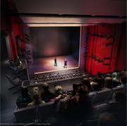 A rendering of what the finished theater will look like.