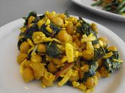 Curried chickpea-kale salad.