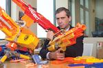 Videology CEO Scott Ferber's 'out of hand' Nerf gun collection in the office