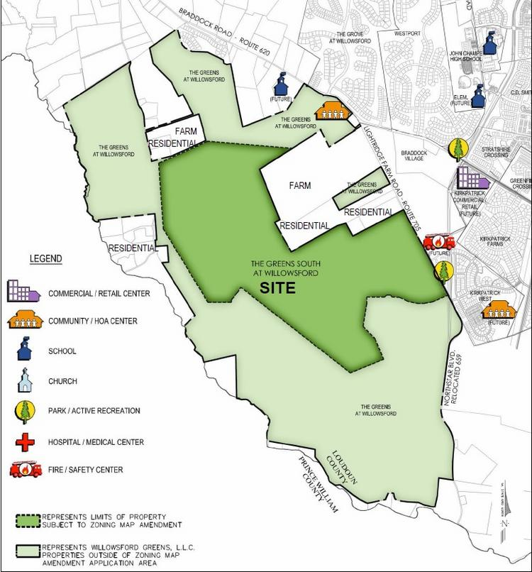 Reston Town Center Map: Loudoun County Faces Dilemma With Proposed 800-home Greens