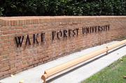 No. 2: Wake Forest University — fall 2013 enrollment of 764
