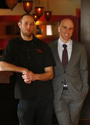 Chef Tim Spinner (left) and Brian Sirhal, owners of three Philadelphia-area restaurants.