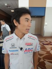IndyCar driver Takuma Sato, who races for A.J. Foyt Enterprises  Sato finished this month's double-header in Houston 17th and 14th, respectively.