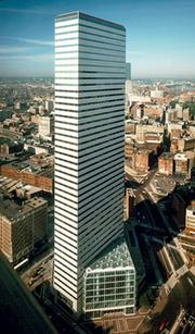 Ray Flynn (1984-1993); 14.3 million square feet (1.6M sf/year), Biggest buildings: 1. One Financial (pictured), 1984 (1.3M sf), 2. 53 State, 1985 (1.2M sf), 3. One International Place, 1987 (1M sf), 4. 125 High, 1989 (1M sf), 5. 75 State, 1987 (0.8M sf)