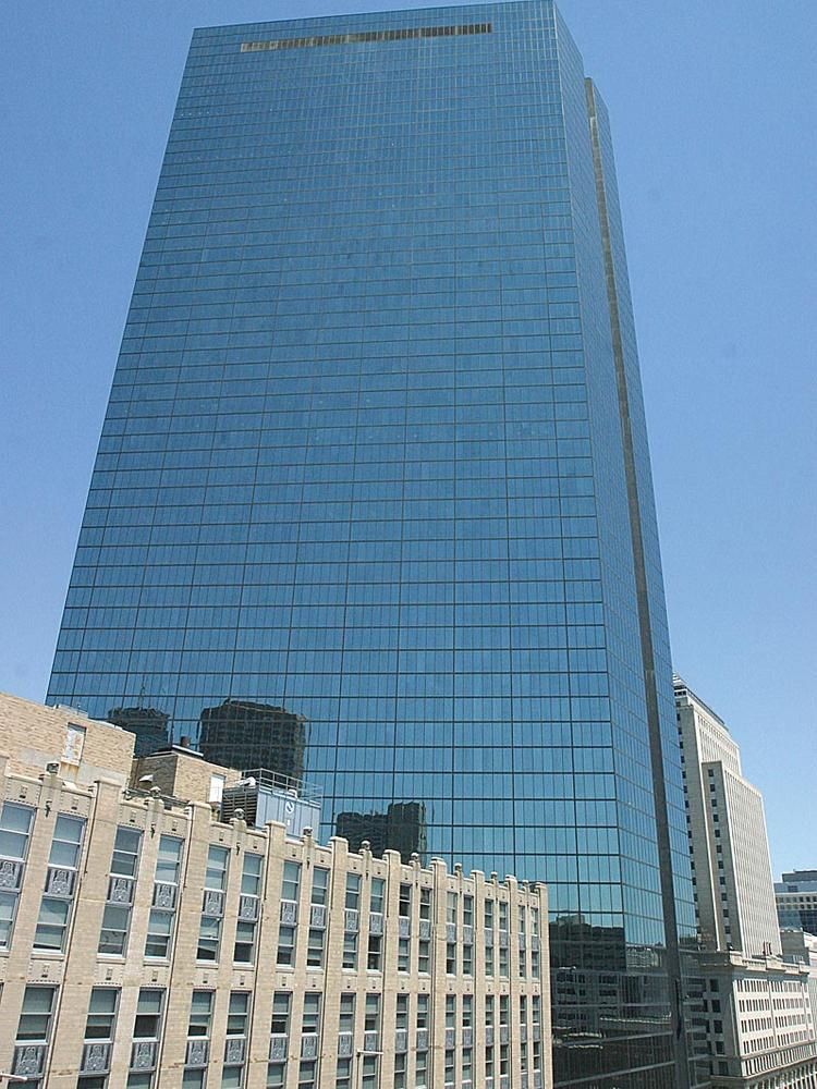 The John Hancock tower, one of four office buildings in Boston owned by Boston Properties.