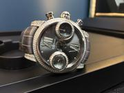 This watch, from the Graham Swordfish Diamonds collection, retails for $34,610. It has 319 diamonds totaling 3.294 carats.