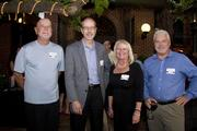 Erle Hanson of State Fund; Lowell Shields of Capital Engineering Consultants, Heidi Hughes of Sacramento Regional Builders Exchange and Steve Humason of Lawson Mechanical Contractors, all pose at the Sacramento Regional Builders Exchange mixer.