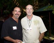 Dave Morris of SEK, US and Dave Skeen of Excel Bonds & Insurance Services pose at the Sacramento Regional Builders Exchange mixer.
