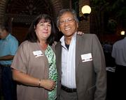 Shelly Laurel and Moises Laurel of Bank of Sacramento pose at the Sacramento Regional Builders Exchange mixer.