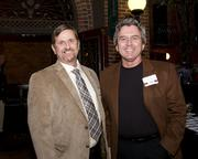 Karl Pineo and Kevin Ferreira of Iron Workers Local 118 pose at the Sacramento Regional Builders Exchange mixer.