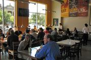 The dining room at Taste of Belgium has room for about 90 people, including seats at the bar.