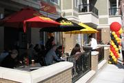 The outdoor patio at Taste of Belgium on Short Vine has seating for about 50 people.
