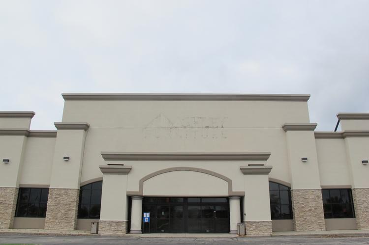 SkyZone would occupy the central space in the former Ashely Furniture store building in Franklin.