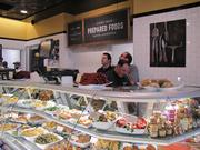 A prepared foods counter.